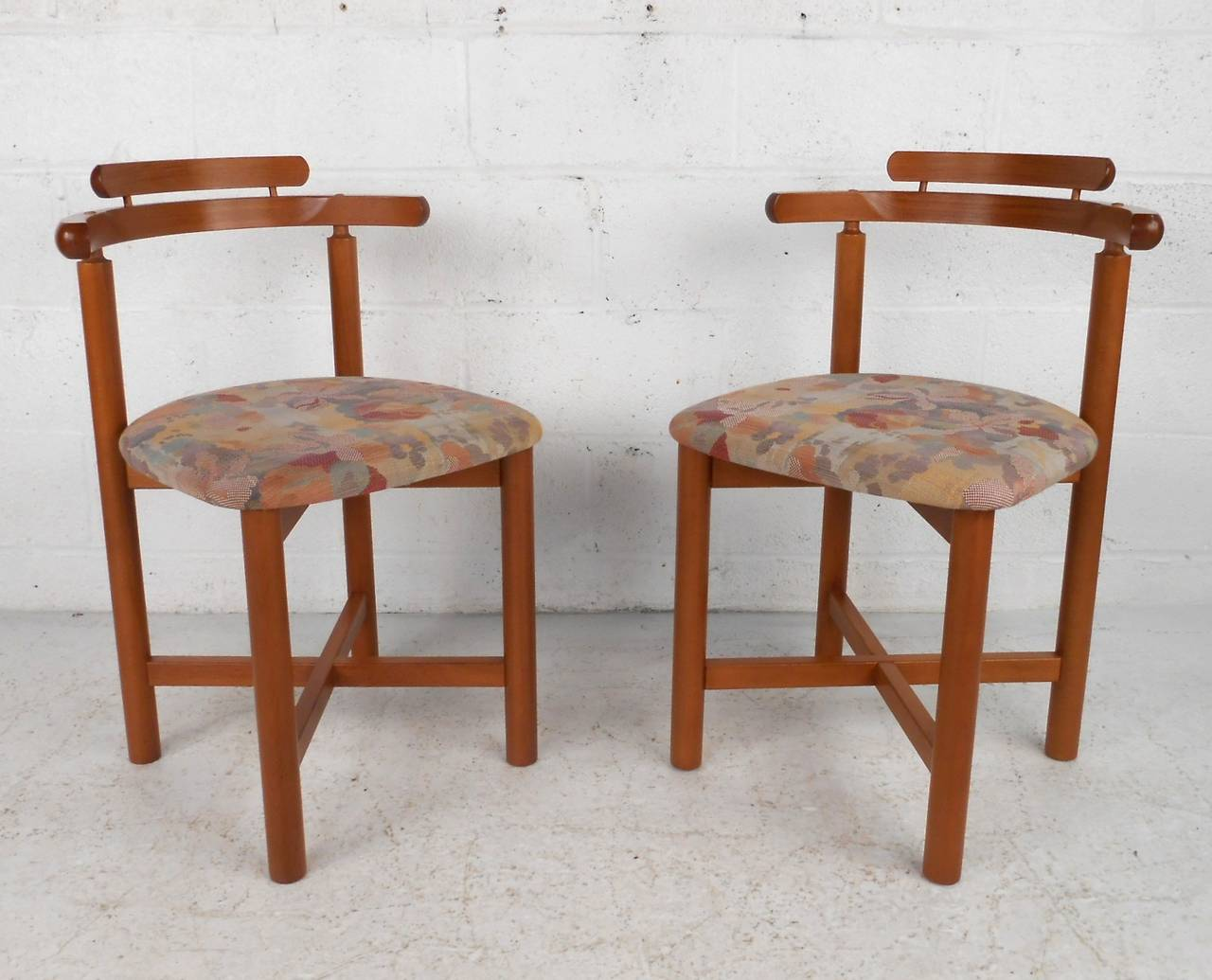 Set Of Mid Century Modern Style Danish Teak Dining Chairs By Gangso Mobler  In Good