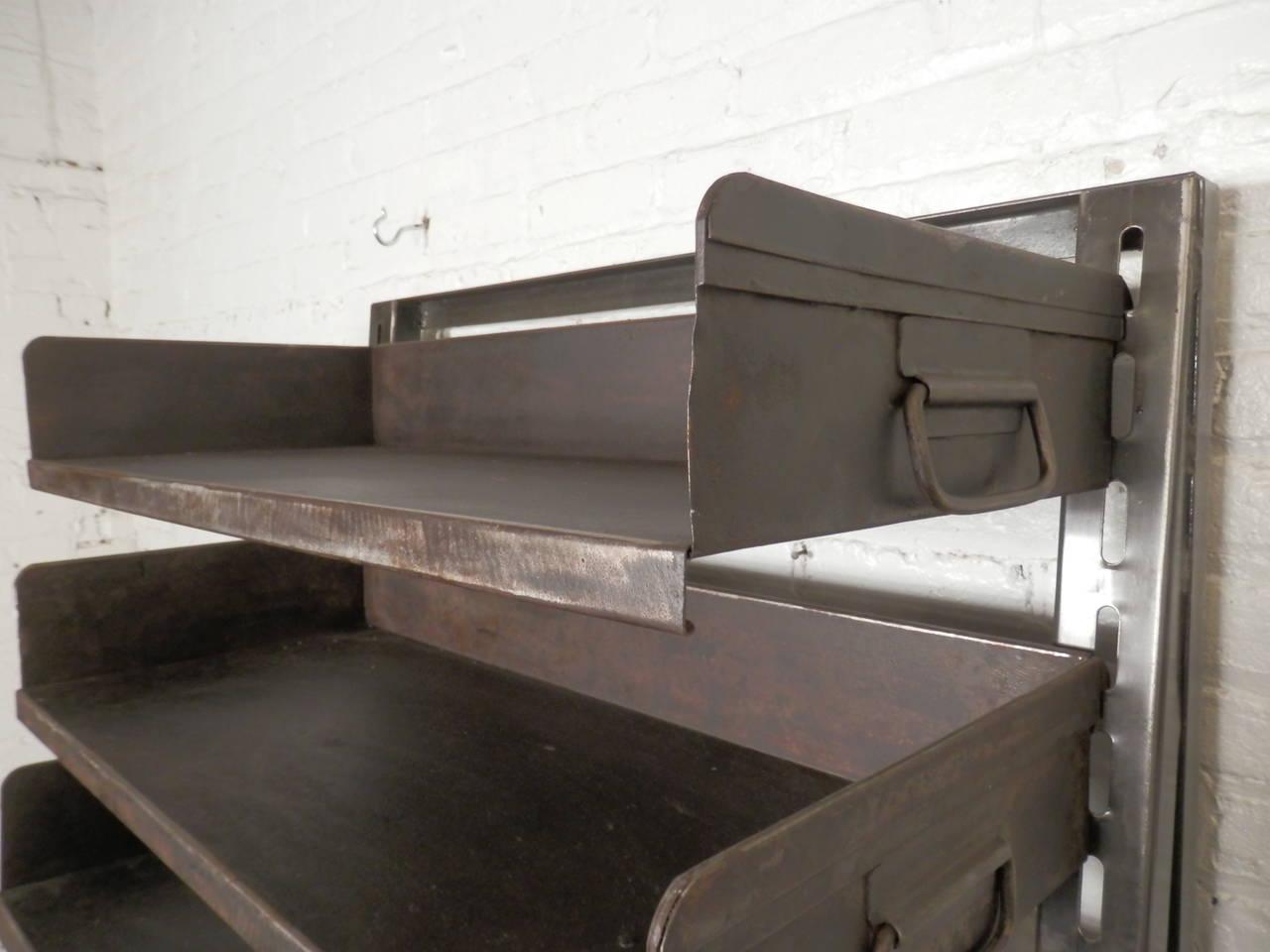 large industrial metal shelving unit at 1stdibs Metal Shelving Metal Shelving