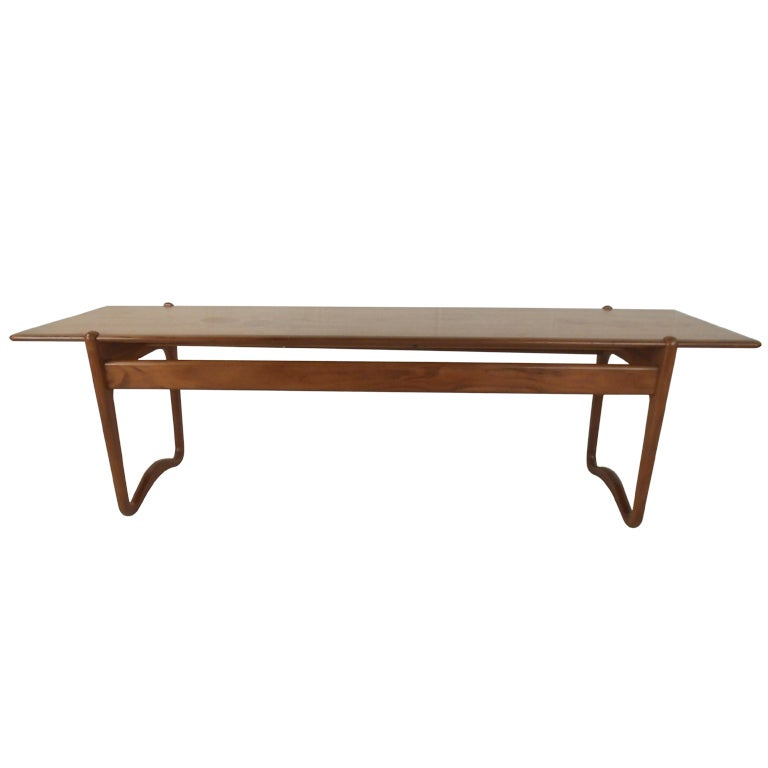 Peter Hvidt Teak Coffee Table For Sale