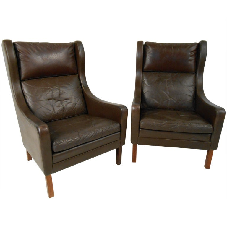 High back leather club chair mid century leather and for High back leather chairs