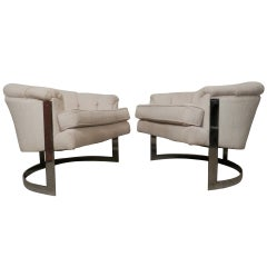 Mid-Century Modern Barrel Back Chairs