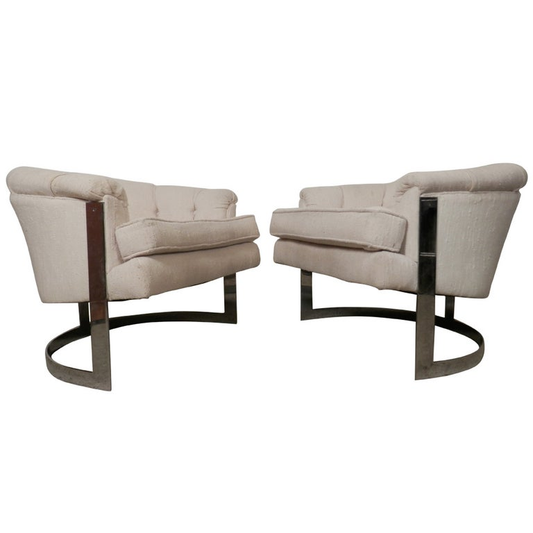 Mid-Century Modern Barrel Back Chairs For Sale