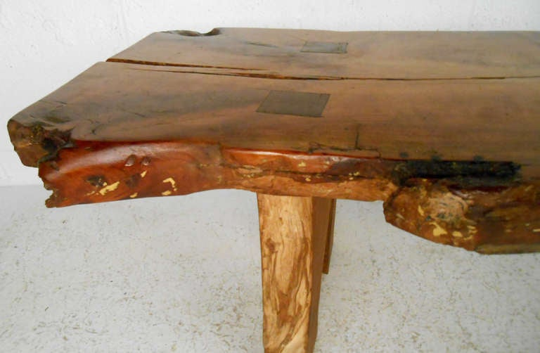Rustic Wood Slab Coffee Table For Sale At 1stdibs