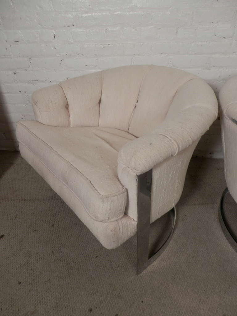 American Mid-Century Modern Barrel Back Chairs For Sale