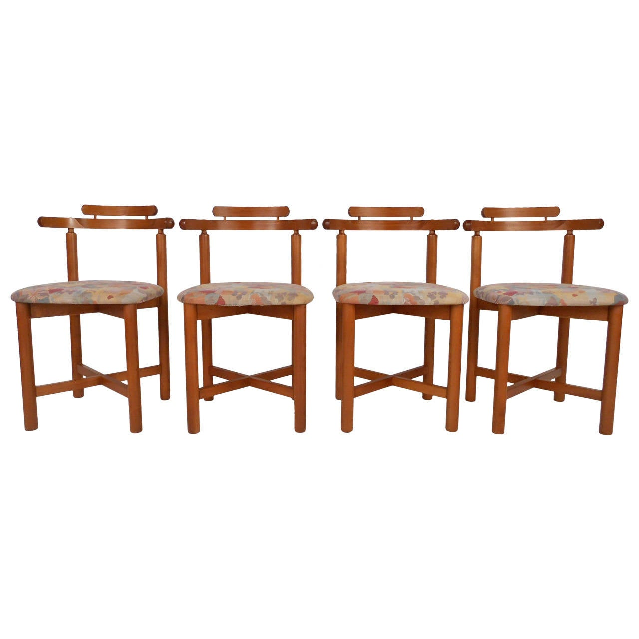 Set Of Mid Century Modern Style Danish Teak Dining Chairs By Gangso Mobler At