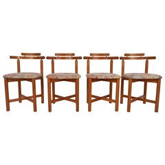 Set of Mid-Century Modern Style Danish Teak Dining Chairs by Gangso Mobler