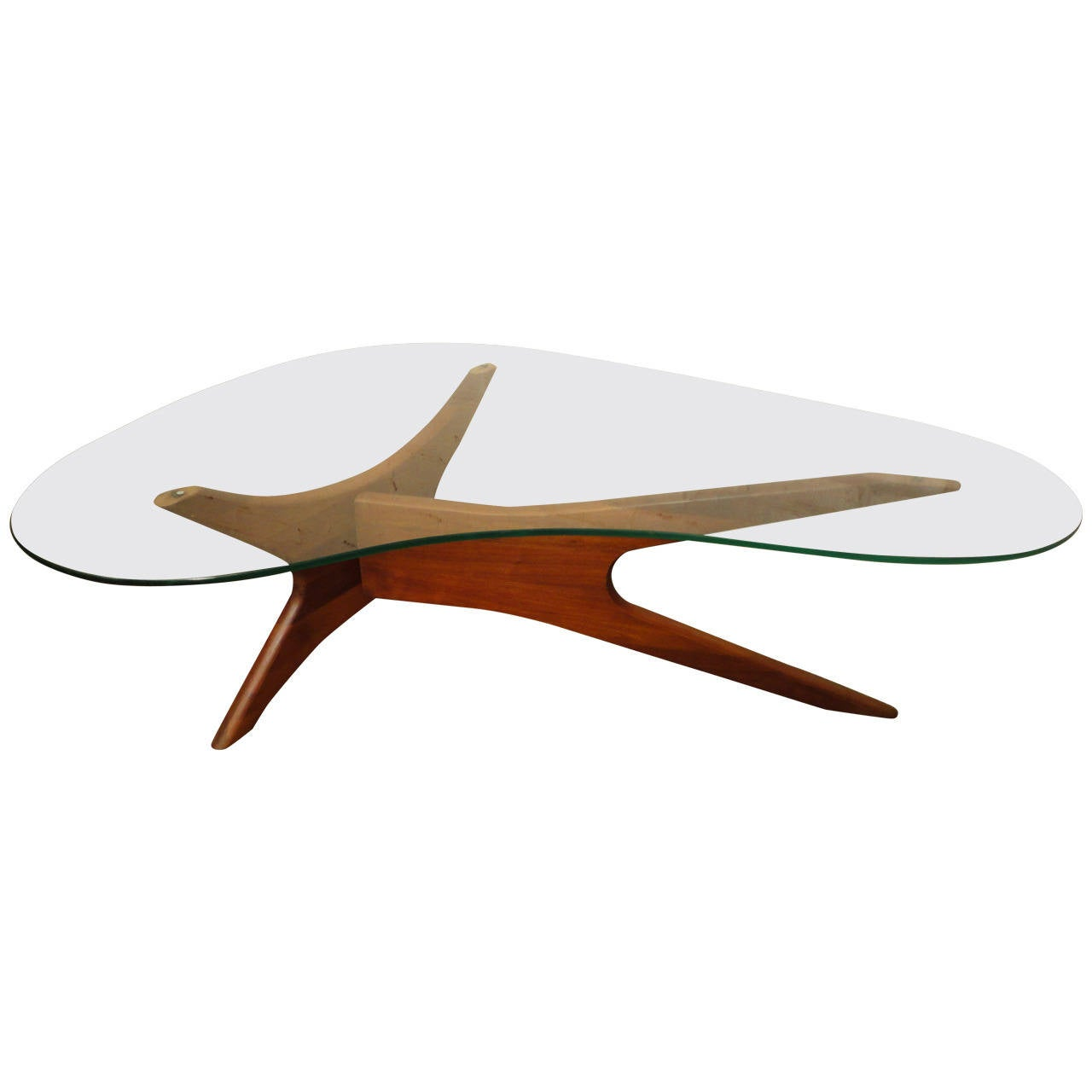 Mid Century Modern Adrian Pearsall Kidney Shaped Coffee Table At 1stdibs