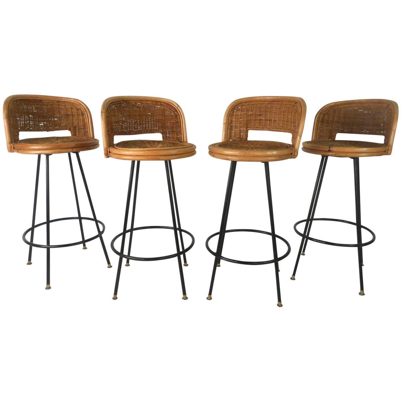 rattan bar stools