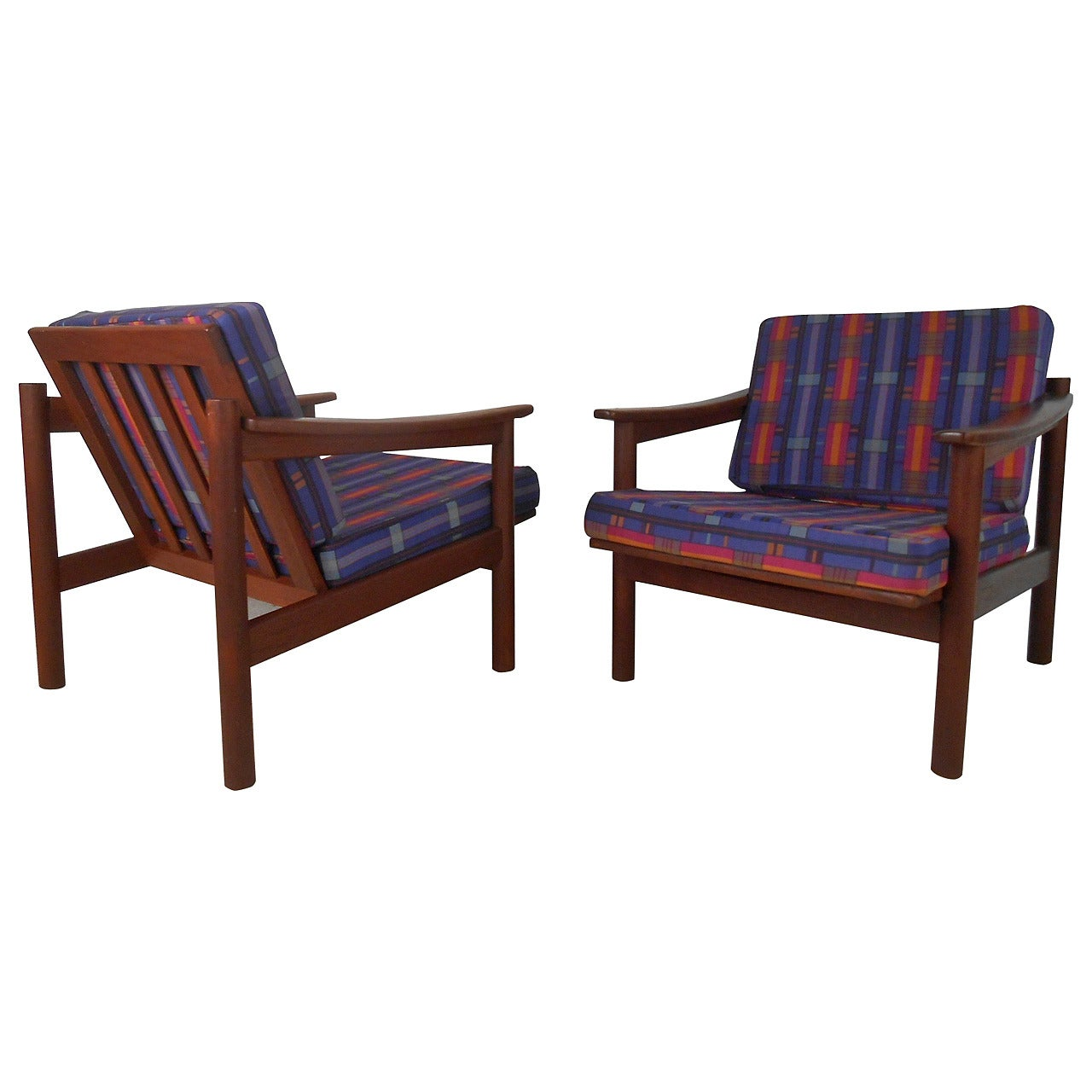 Pair of Vintage Danish Lounge Chairs