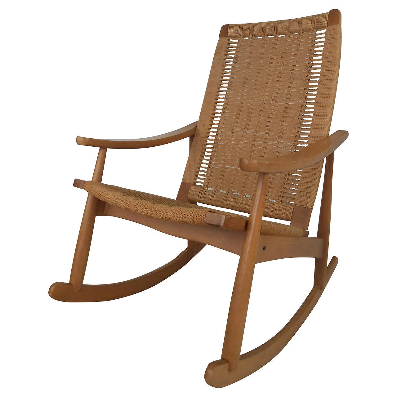 Terrific Yugoslavian Rope Rocker At 1Stdibs Ocoug Best Dining Table And Chair Ideas Images Ocougorg