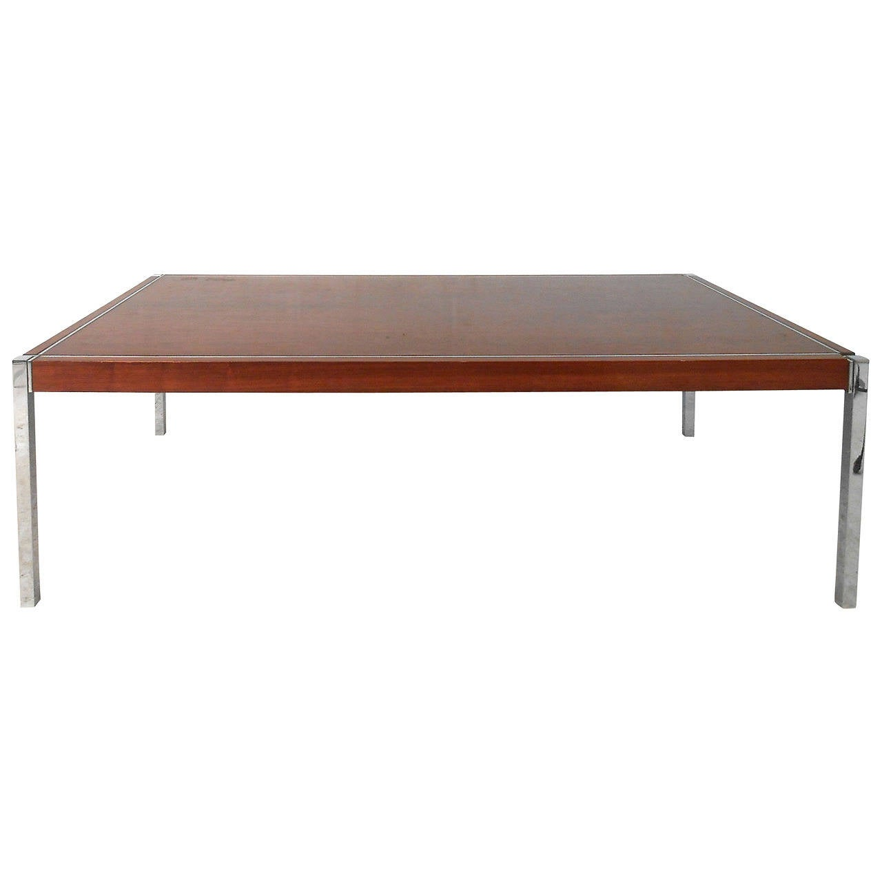 Mid Century Modern Richard Schultz Rosewood And Chrome Coffee Table At 1stdibs