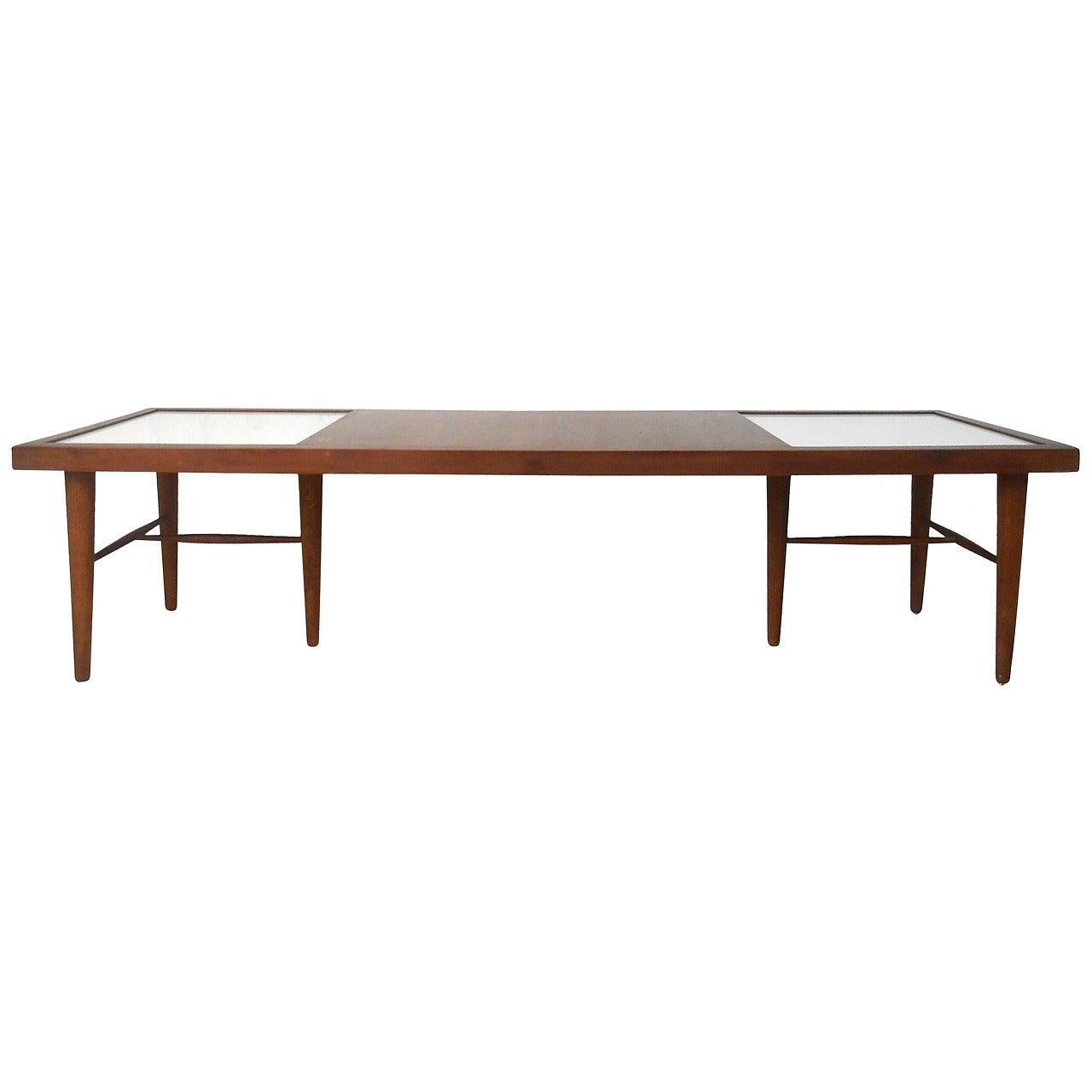 American of Martinsville Mid-Century Modern Coffee Table with Tile Inlay