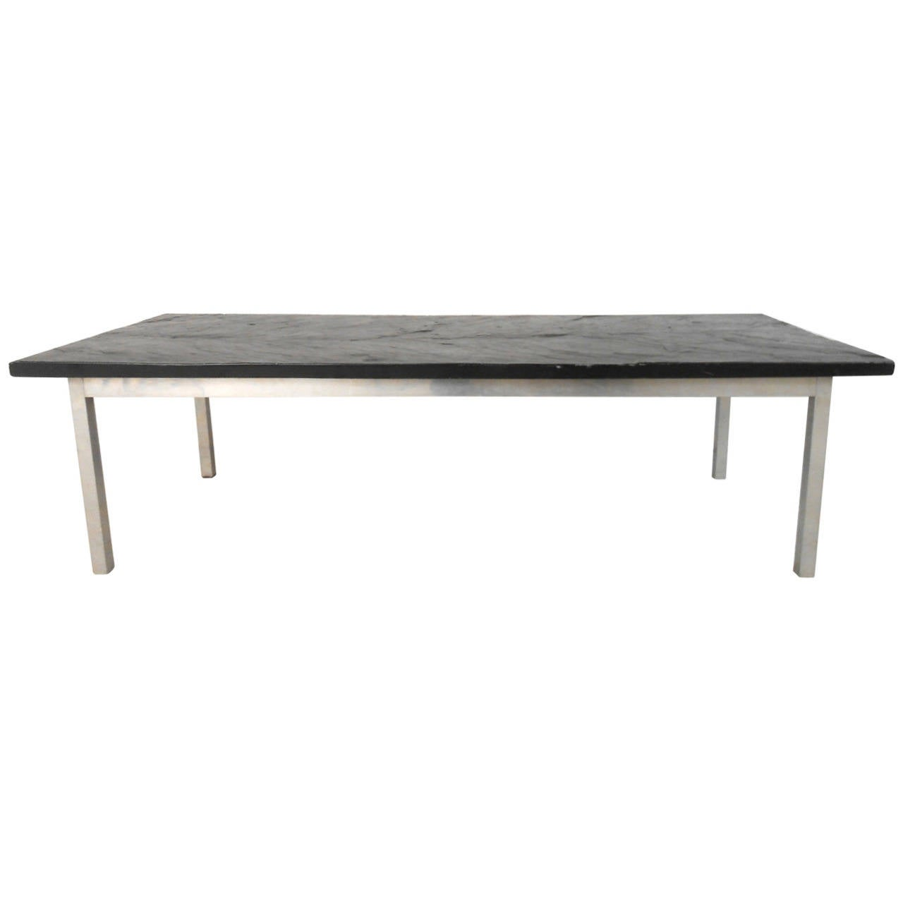 Poul Kjærholm Style Slate Top Coffee Table For Sale
