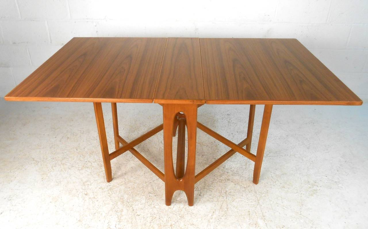 mid century modern bruno mathsson style teak drop leaf dining table at 1stdibs. Black Bedroom Furniture Sets. Home Design Ideas