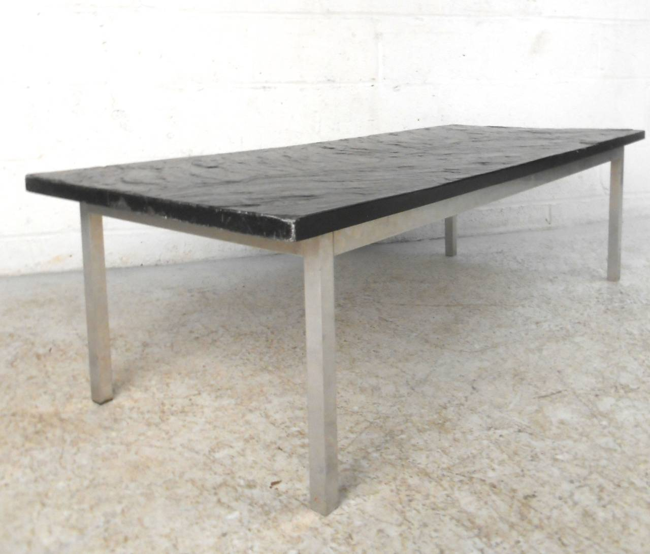 Mid century modern poul kj rholm style slate top coffee table for sale at 1stdibs Slate top coffee tables