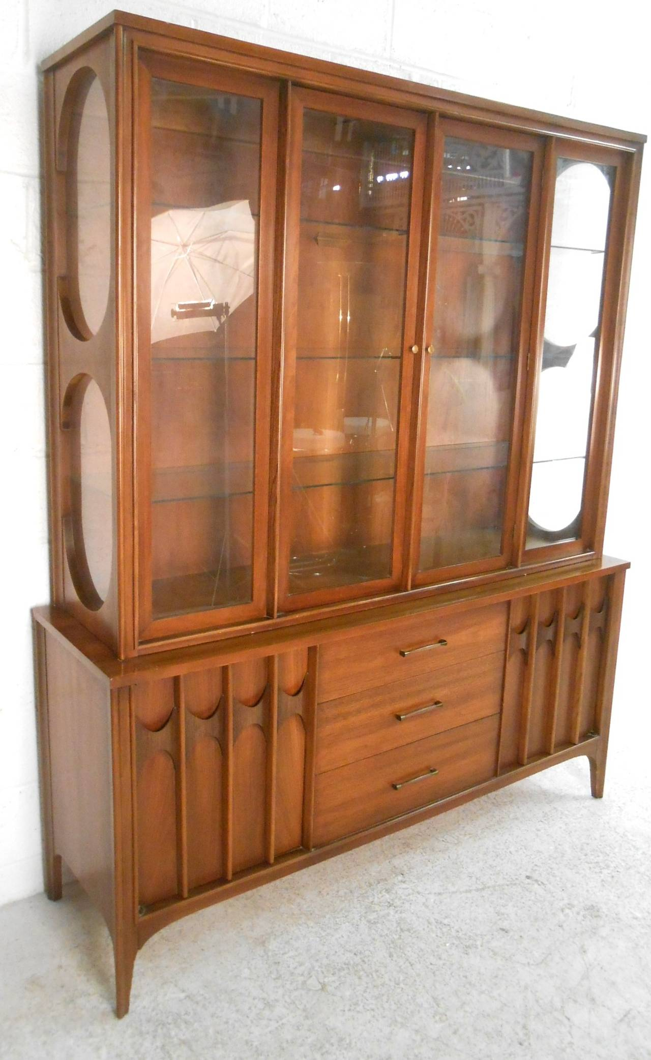 This Matching Two Piece Server With Display Hutch Makes For An Elegant  Addition To Any