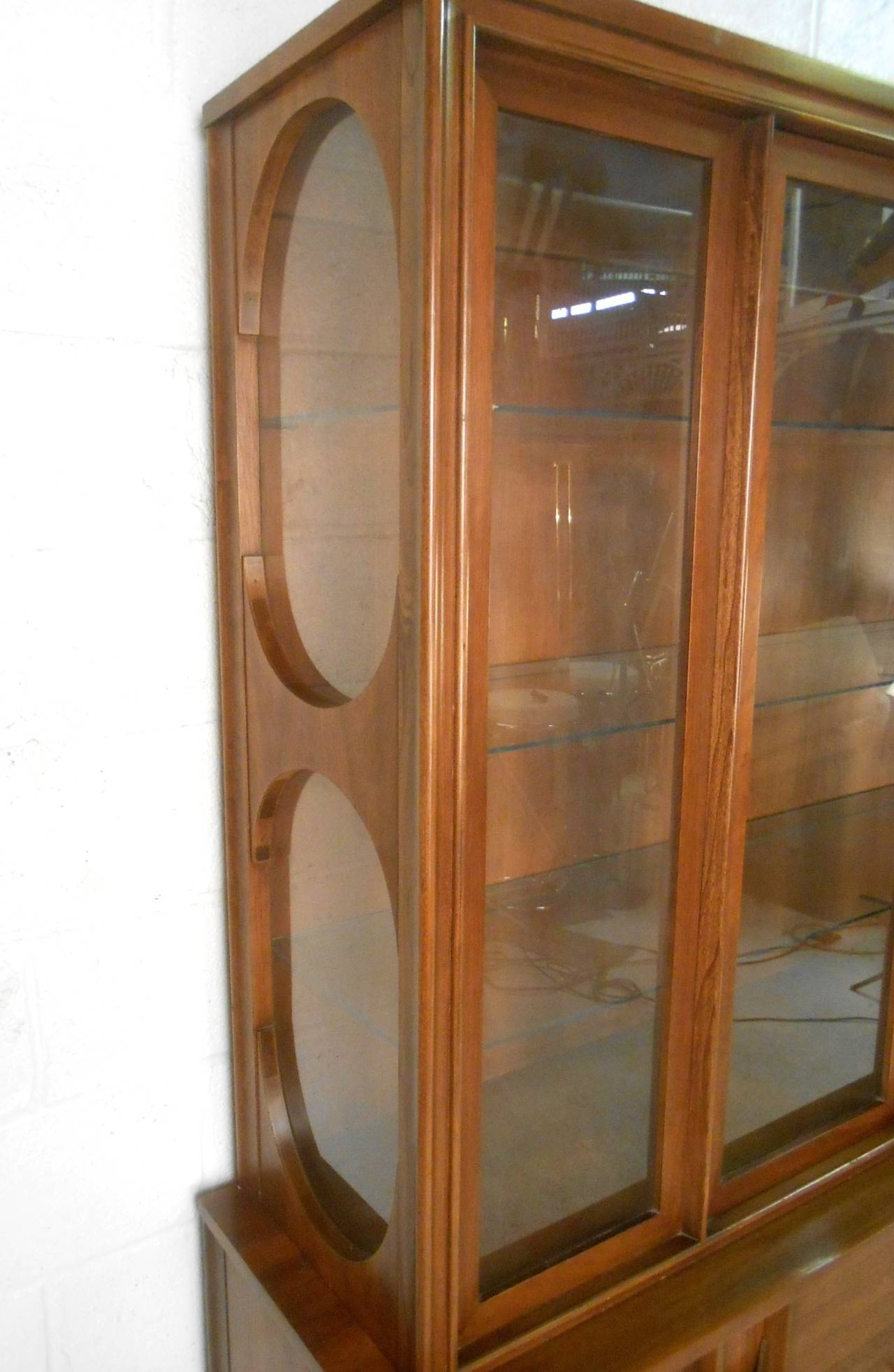 Late 20th Century Mid-Century Modern Kent Coffey Perspecta Breakfront Sideboard For Sale