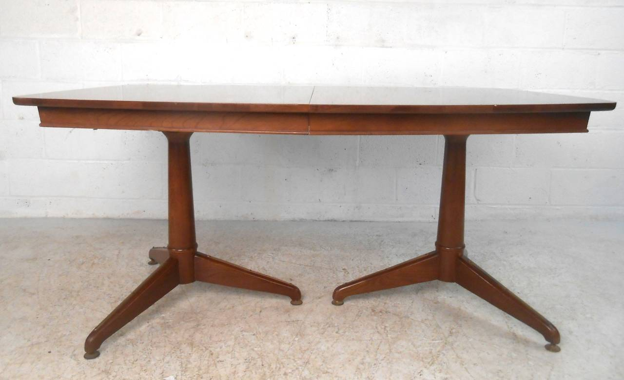 Mid Century Modern Kent Coffey Perspecta Dining Table For