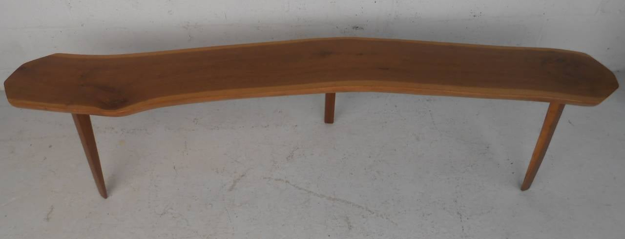 Studio made free edge coffee table with beautiful grain. Please confirm item location (NY or NJ) with dealer.