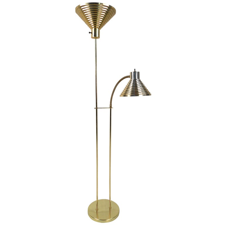 Brass Floor Lamp Mid Century: Mid-Century Brass Floor Lamp For Sale At 1stdibs