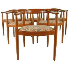 Set of Twelve Danish Modern Dining Chairs in the Style of Hans Wegner