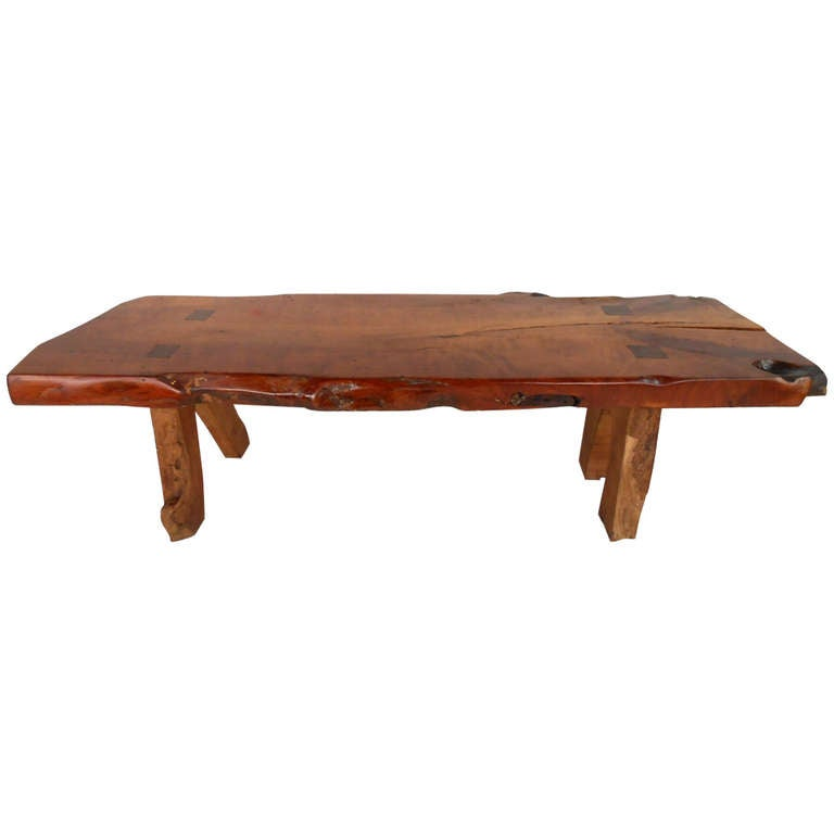 Rustic Wood Slab Coffee Table For Sale At 1stdibs