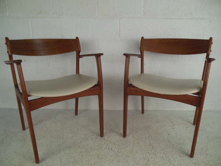 Danish Draw Leaf Dining Table And Six Eric Buch Chairs At