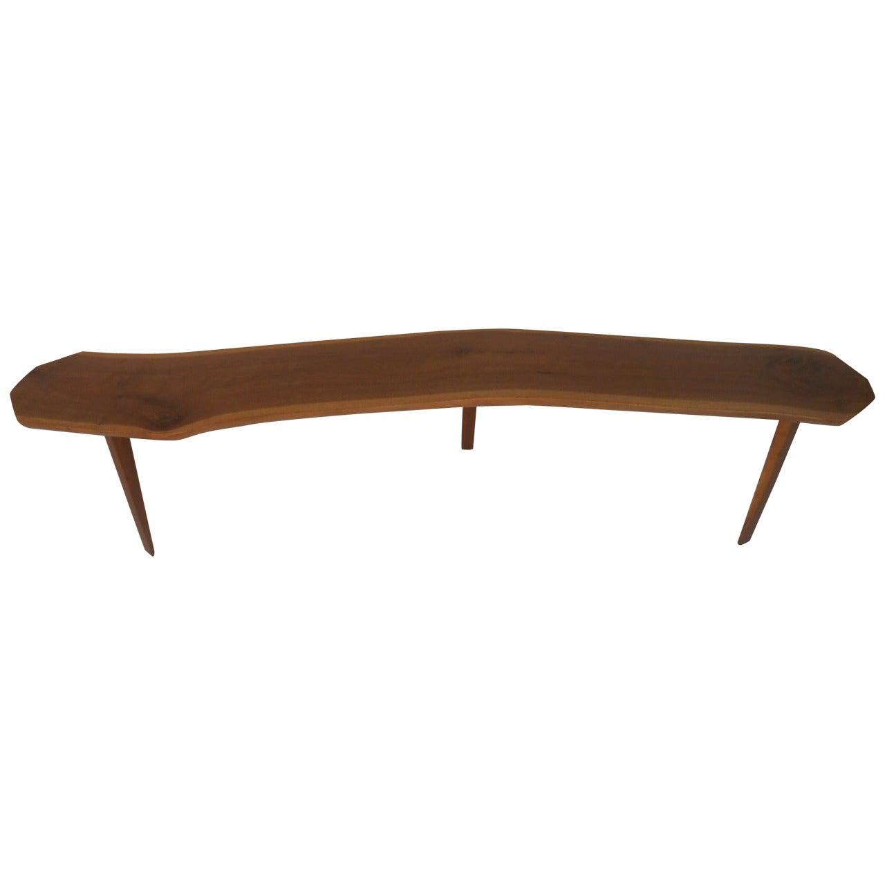 Rustic Vintage Tree Slab Coffee Table