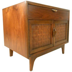 Mid-Century Modern Walnut Nightstand by Warren Church for Lane
