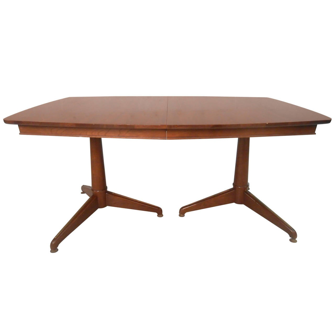 Mid century modern kent coffey perspecta dining table for for Mid century modern dining table