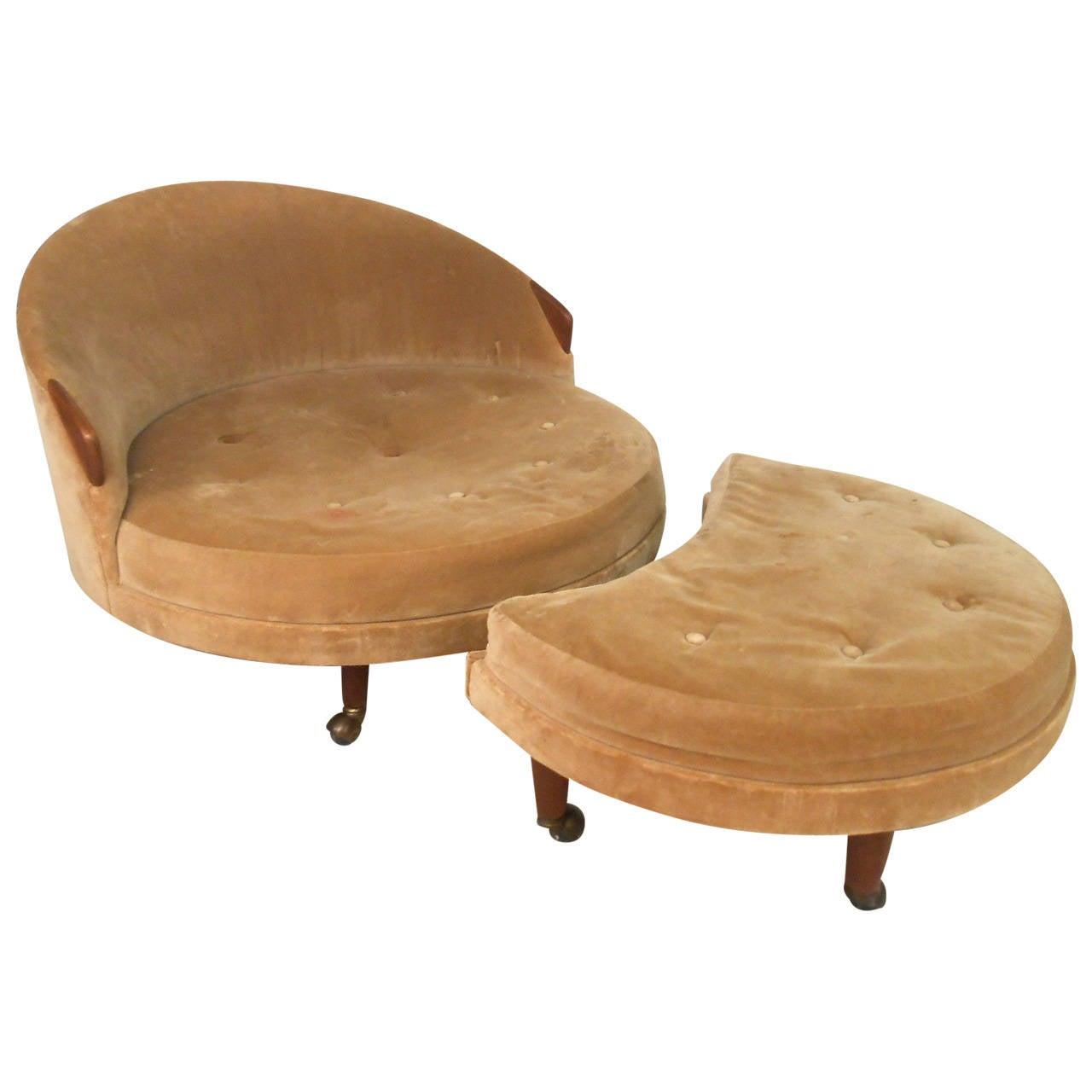 Mid century modern adrian pearsall lounge chair and ottoman at 1stdibs - Mid century modern chair and ottoman ...