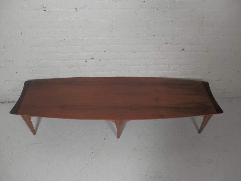 Long surfboard style coffee table at 1stdibs for Surfboard coffee table