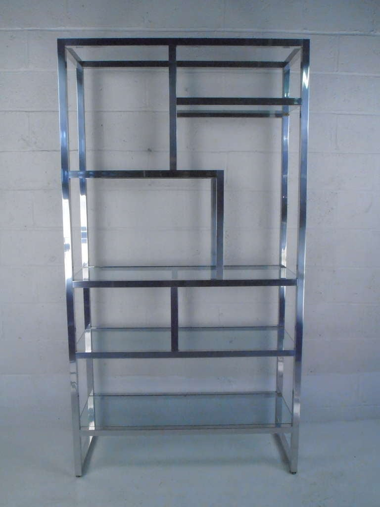 polished mid century modern etagere at 1stdibs. Black Bedroom Furniture Sets. Home Design Ideas