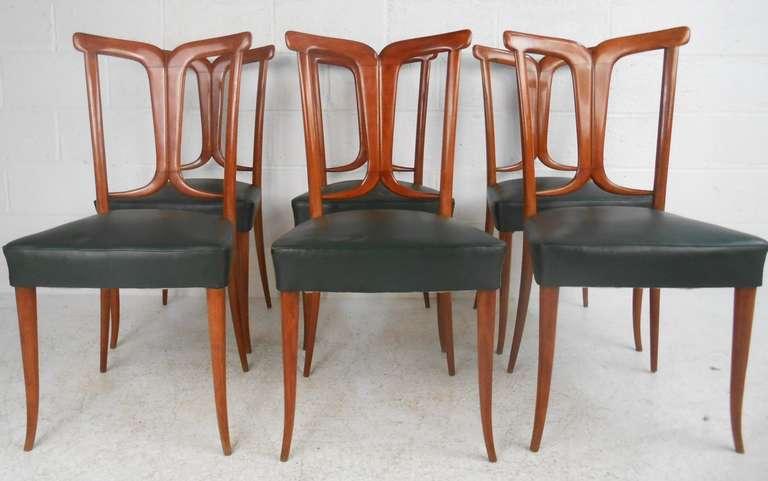 Mid-Century Modern Osvaldo Borsani Style Dining Chairs For Sale