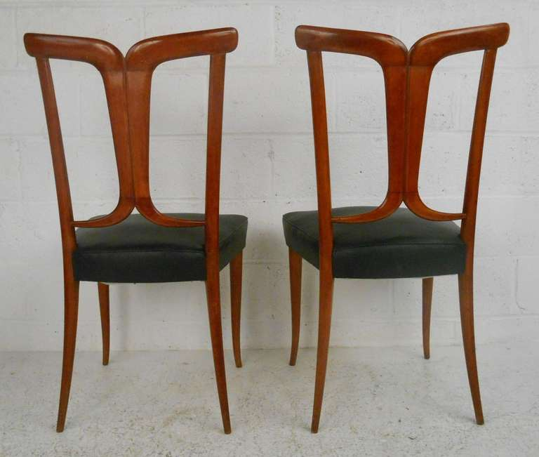 Osvaldo Borsani Style Dining Chairs In Good Condition For Sale In Brooklyn, NY