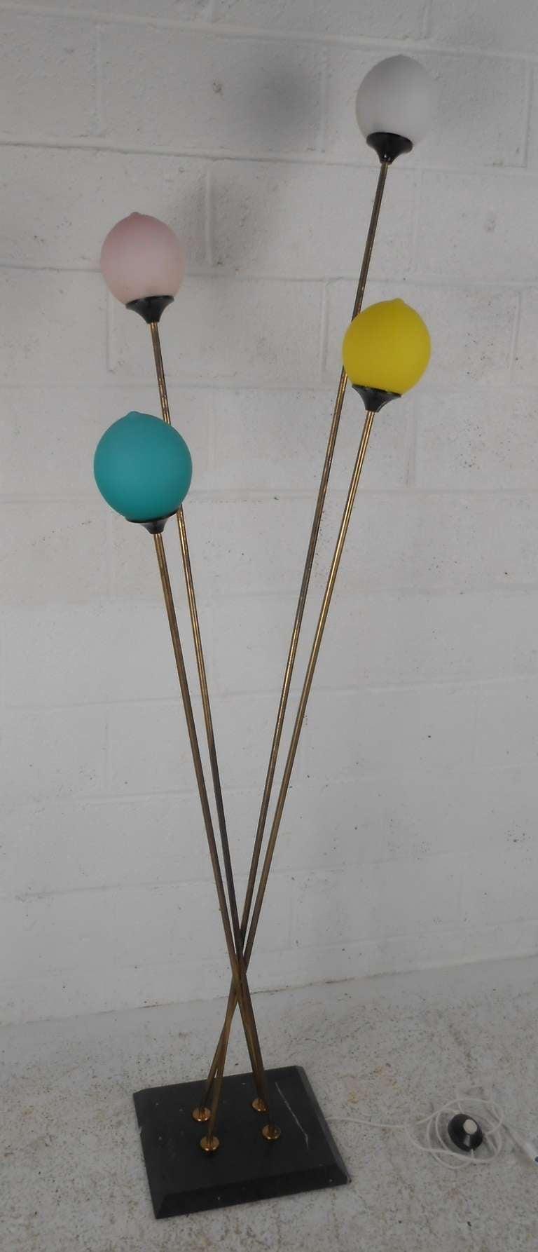 Mid-Century Modern Playful Vintage Italian Modern Floor Lamp For Sale