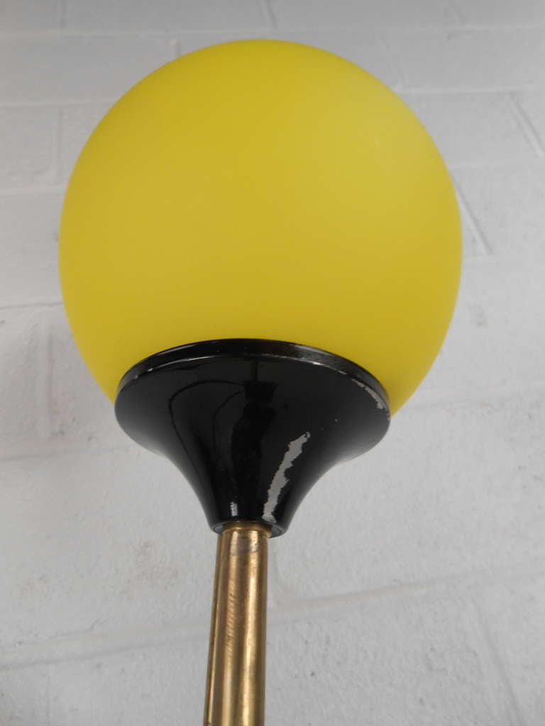 Metal Playful Vintage Italian Modern Floor Lamp For Sale