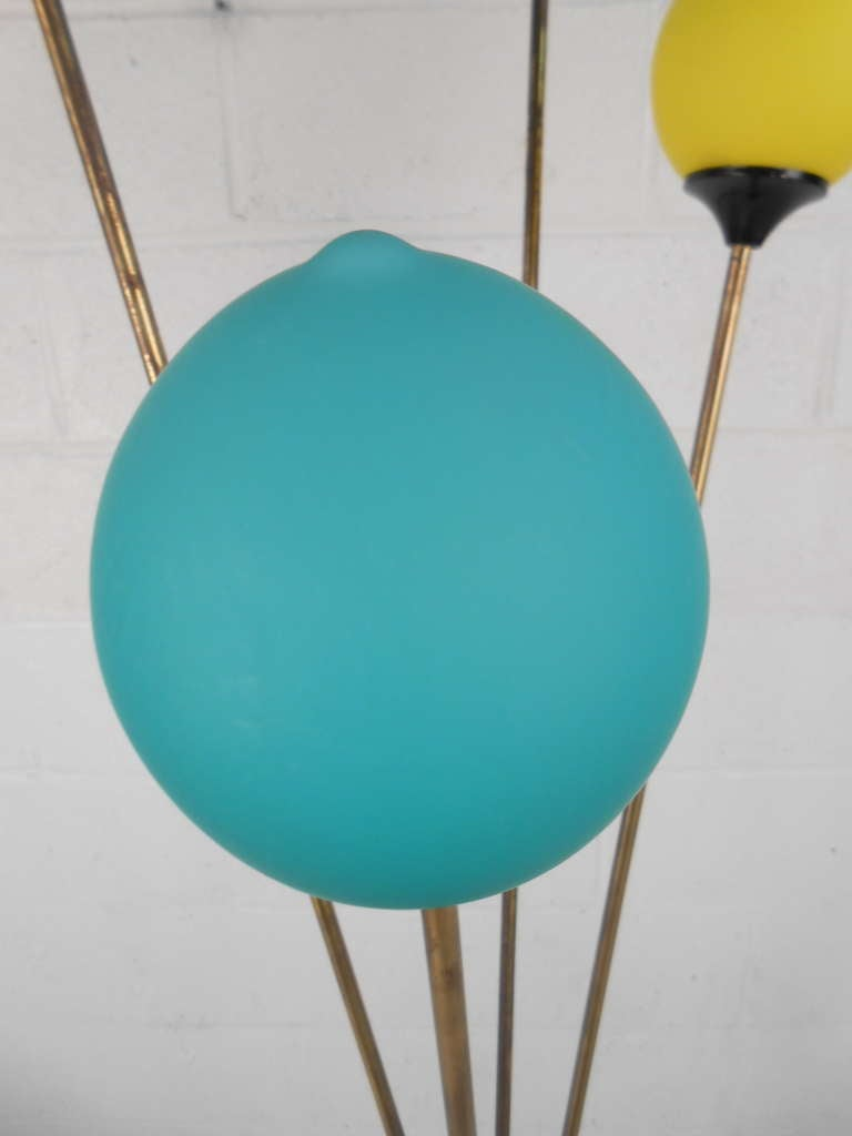 20th Century Playful Vintage Italian Modern Floor Lamp For Sale