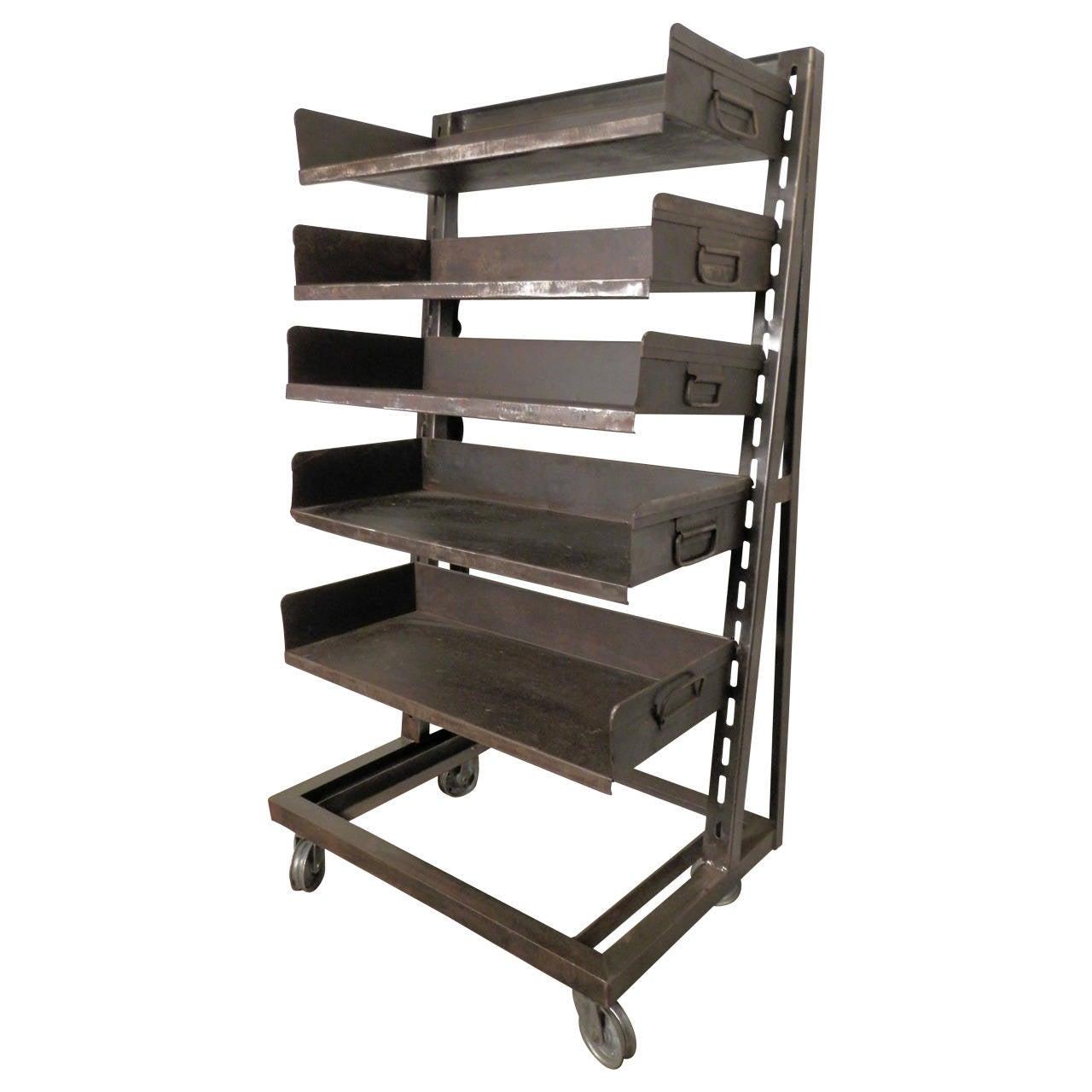 large industrial metal shelving unit at 1stdibs heavy duty adjustable shelving heavy duty adjustable shelving