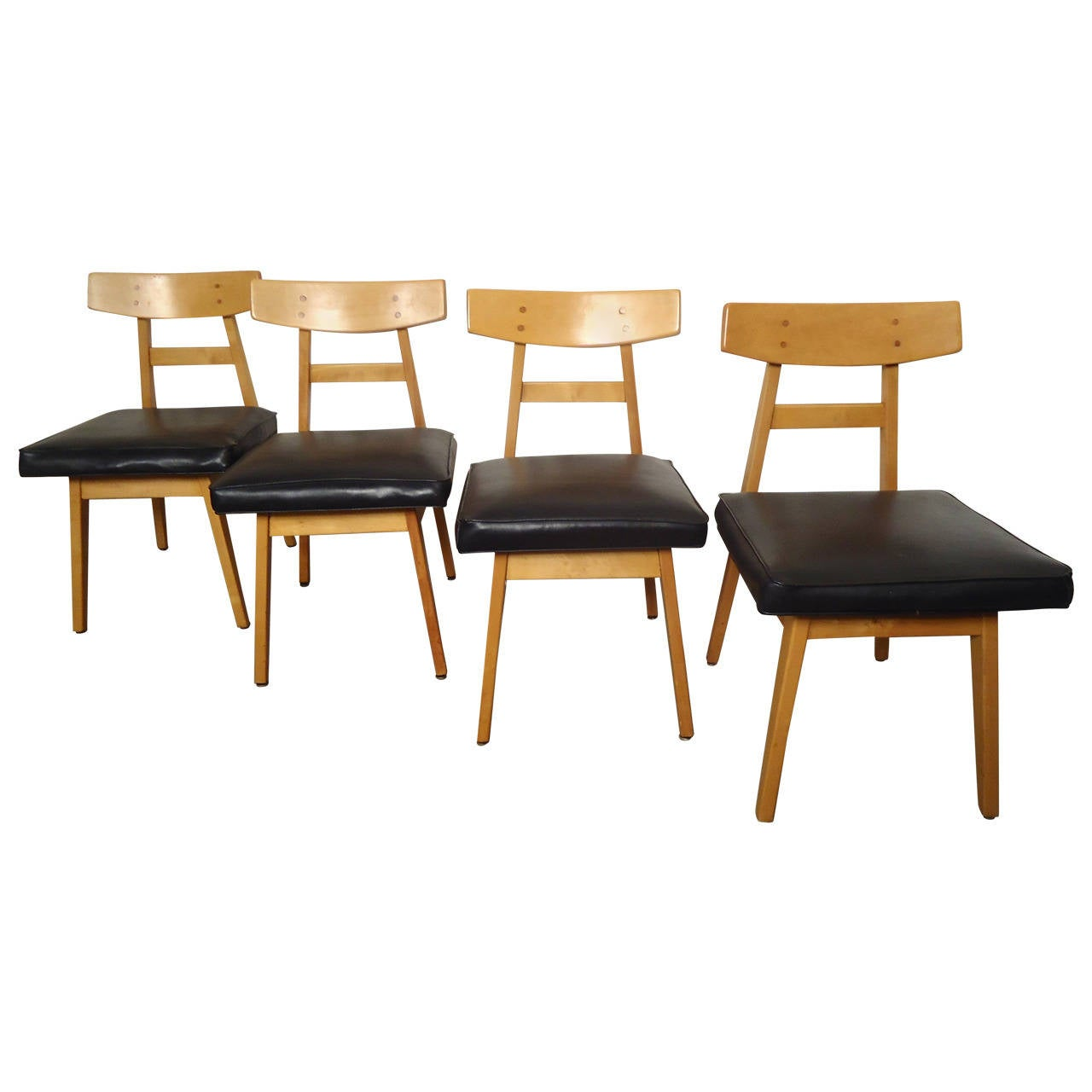Set of jens risom dining chairs at 1stdibs - Jens risom dining chairs ...