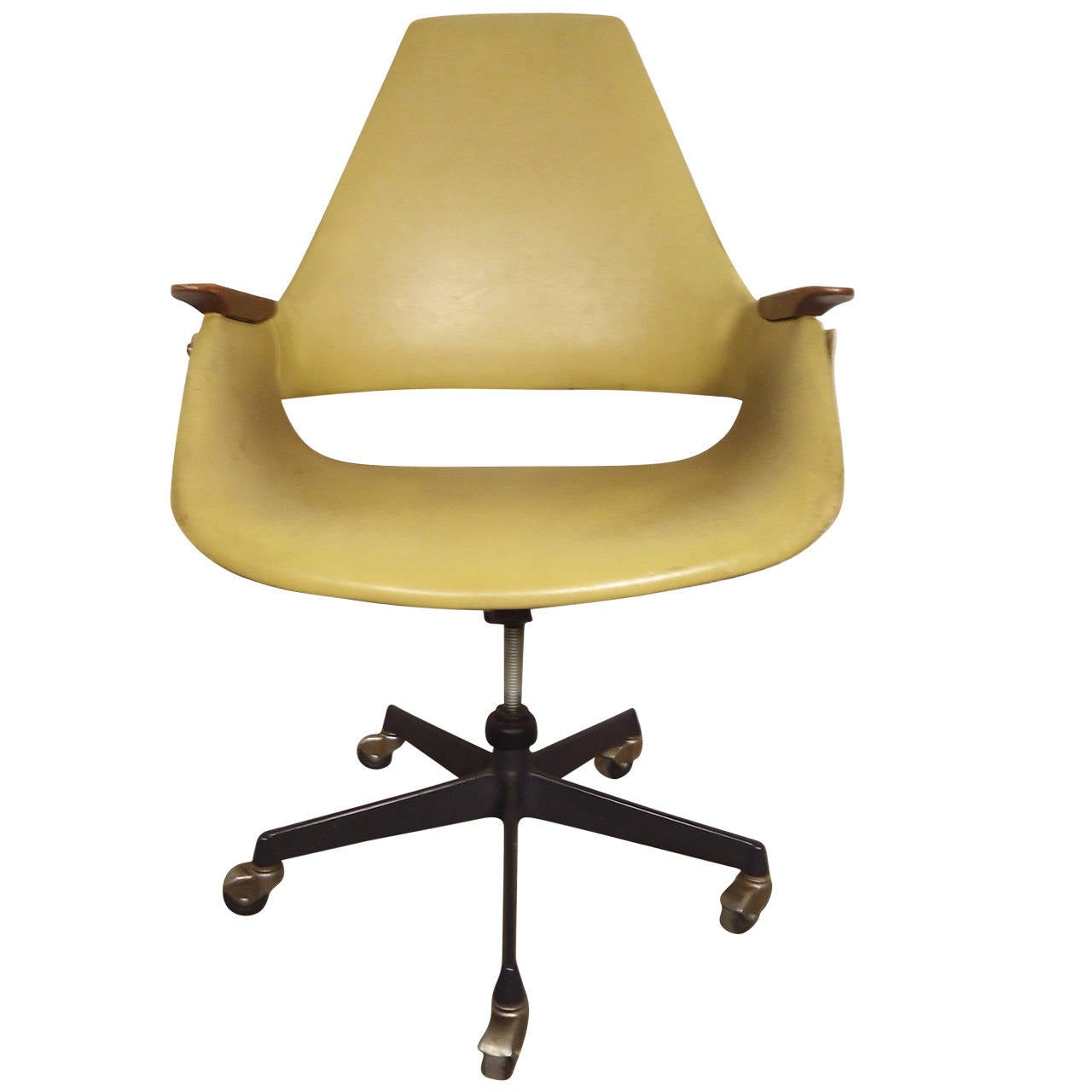 Mid century modern rolling desk chair at 1stdibs for Modern furniture chairs