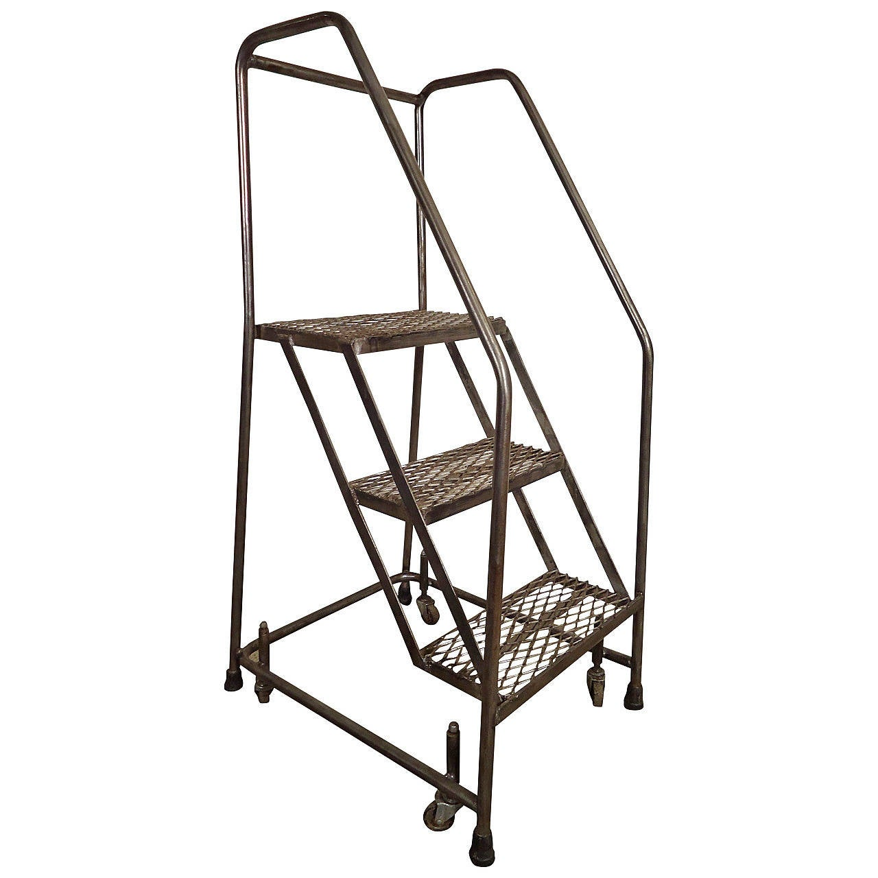 Industrial Metal Rolling Ladder At 1stdibs