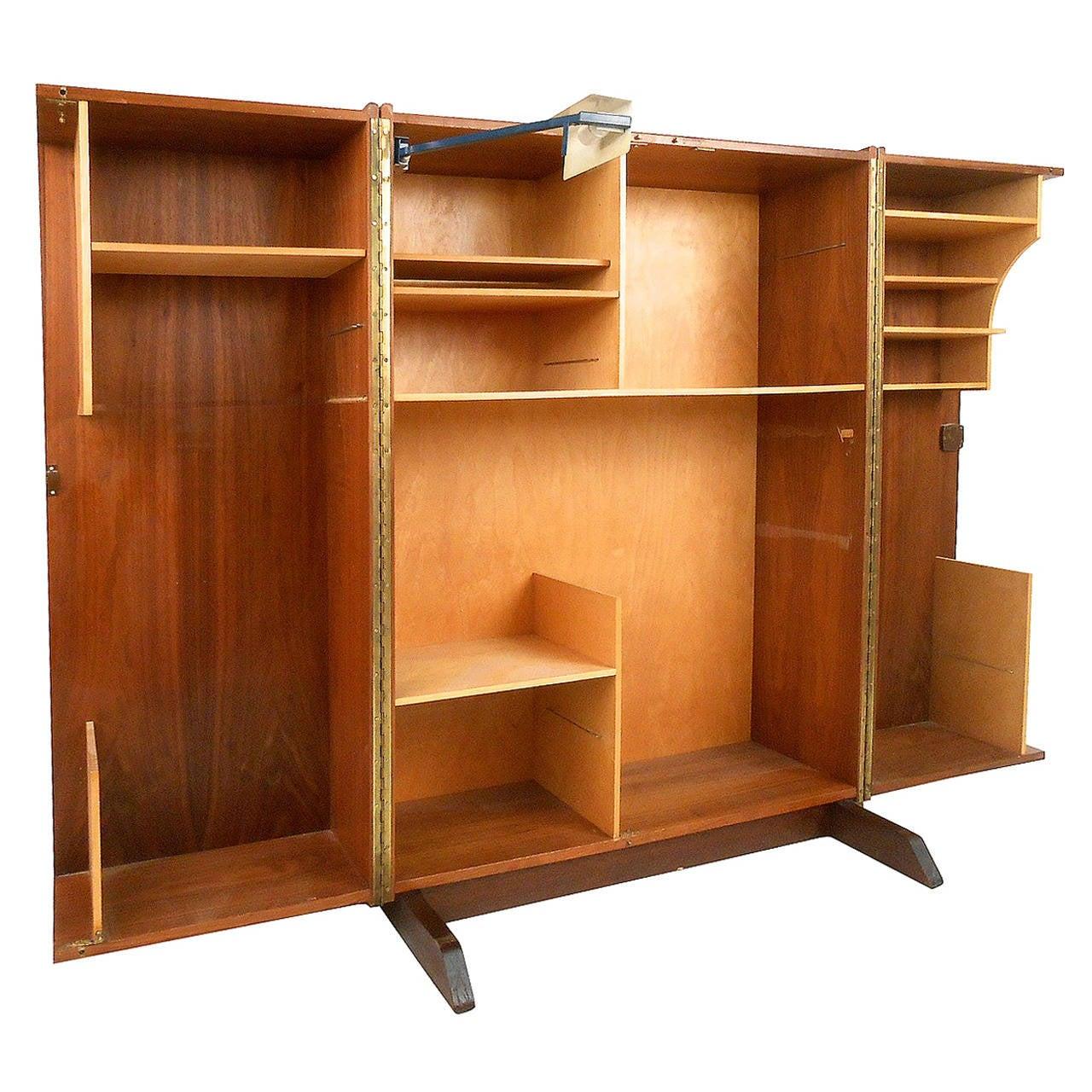 Mid Century Modern Magic Box Mummenthaler Meier Style Folding Teak Desk