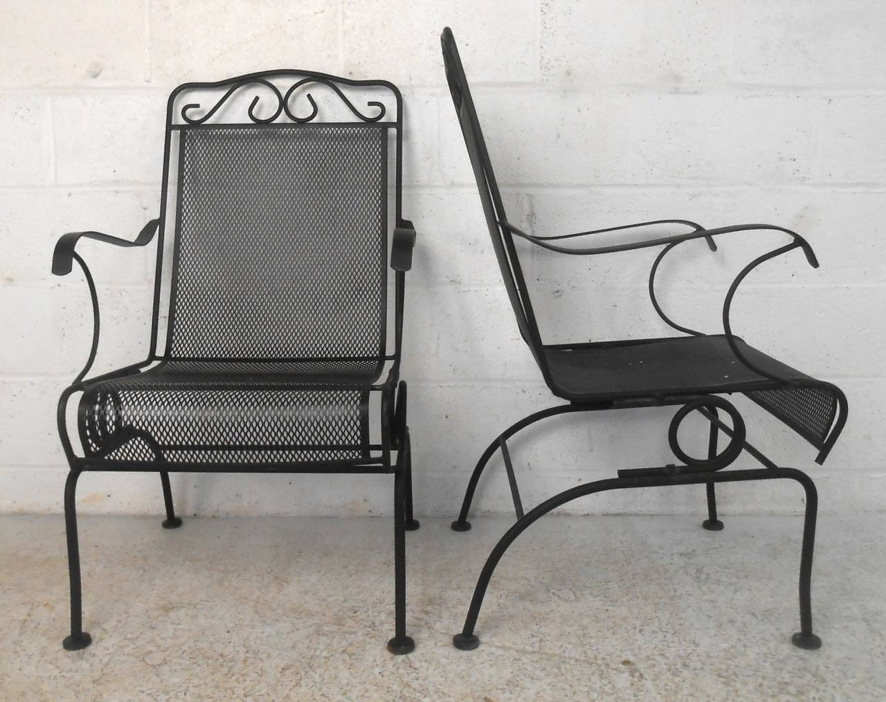 Set of ornate cast iron patio chairs for sale at 1stdibs for Iron furniture