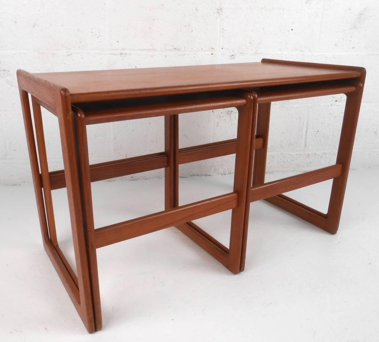 Set of mid century modern danish teak nesting tables at