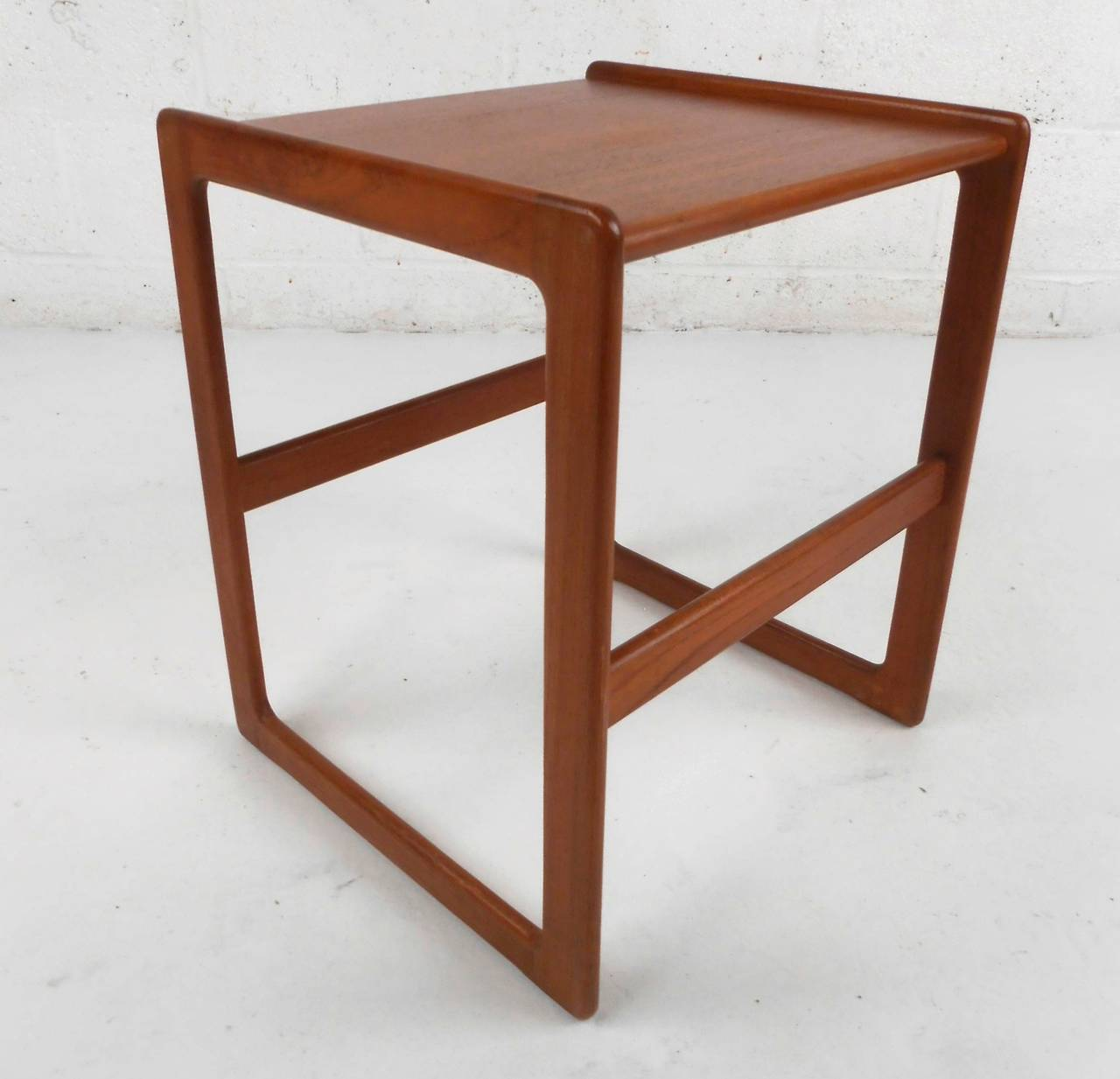 Teak Nesting Tables ~ Set of mid century modern danish teak nesting tables at