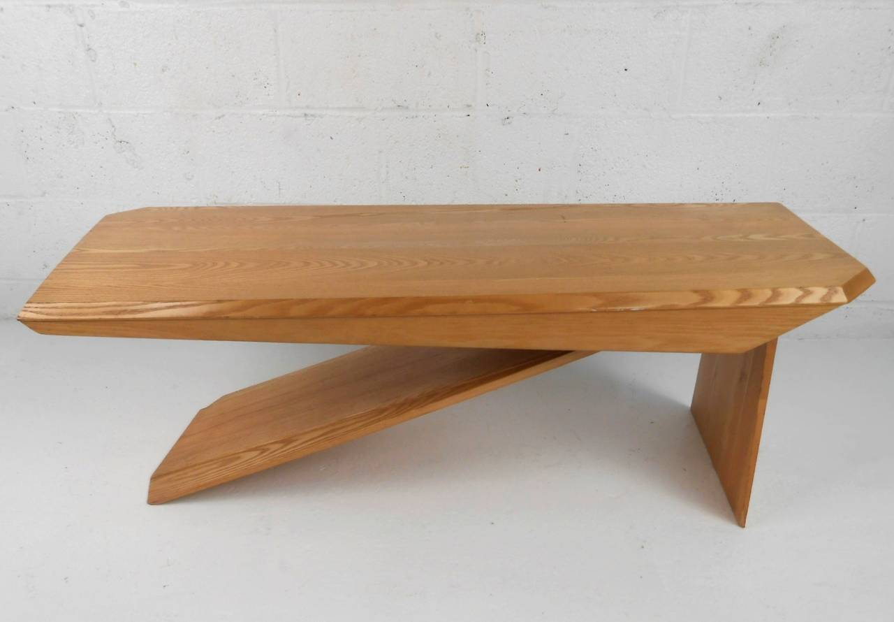 Unique mid century modern style cantilever studio coffee for Modern style coffee tables