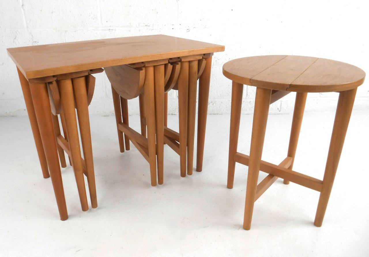 Vintage Nesting Tables Images Bar Height Dining Table Set