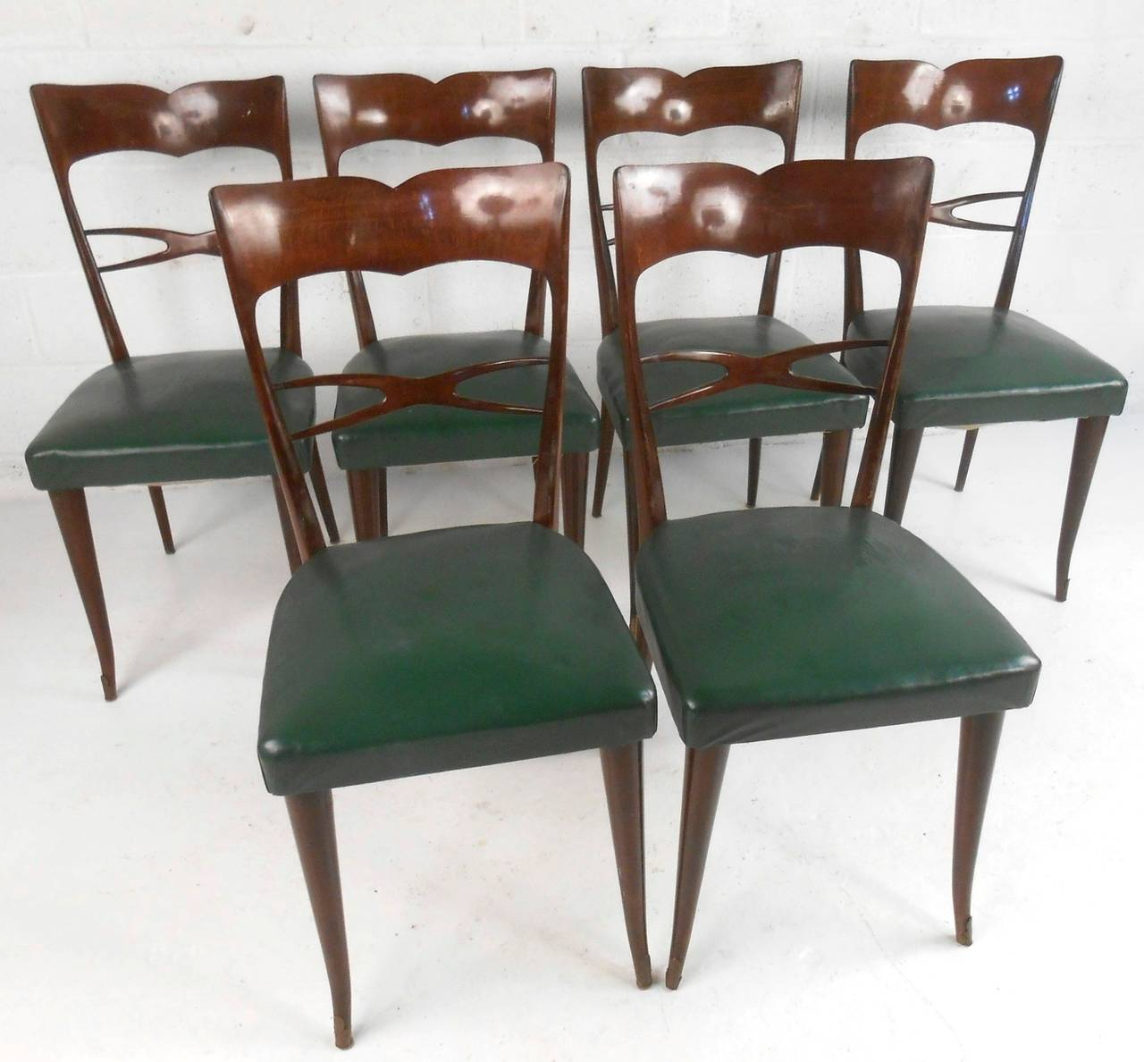 Set Of Guglielmo Ulrich Style Mid Century Modern Italian Dining Chairs For Sa