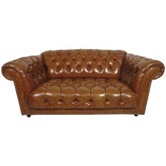 Vintage Vinyl Chesterfield Sofa